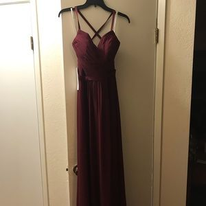 Azazie Dresses - Amari dress from Azazie.com in Cabernet color